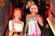 Martha Hunt (L) and Elsa Hosk attend Heidi Klum's 20th Annual Halloween Party presented by Amazon Prime Video and SVEDKA Vodka at Cathedrale New York on October 31, 2019 in New York City.