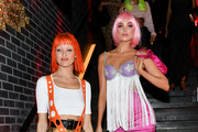 Martha Hunt (L) and Elsa Hosk attend Heidi Klum's 20th Annual Halloween Party presented by Amazon Prime Video and SVEDKA Vodka at Cathédrale New York on October 31, 2019 in New York City.