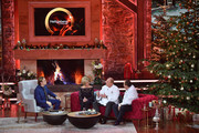 Wolfgang Lippert (l-R), Carmen Nebel, Alfons Schuhbeck and Johann Lafer talk during the tv show 'Heiligabend mit Carmen Nebel' on November 29, 2017 in Munich, Germany. The show will be aired on December 24, 2017.