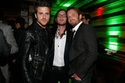 (L to R) Jared Followill, Nathan Followill and Caleb Followill of Kings of Leon attend the Tribeca Film Festival after-party for Talihina Sky hosted by Heineken at Marquee on April 21, 2011 in New York City.