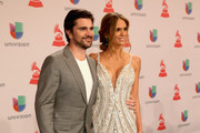Singer Juanes (L) and model Karen Martinez attend the 15th annual Latin GRAMMY Awards at the MGM Grand Garden Arena on November 20, 2014 in Las Vegas, Nevada.