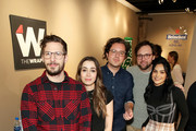 "Andy Samberg, Cristin Milioti, Andy Siara, Max Barbakow and Camila Mendes of ""Palm Springs"" stop by TheWrap Studio sponsored by Heineken at Sundance Film Festival on January 26, 2020 in Park City, Utah."