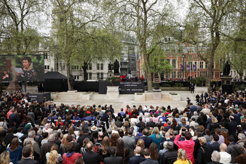 Helen McCrory First Female Suffragette Millicent Fawcett Statue Unveiled In Parliament Square