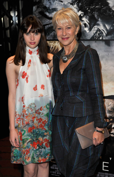 Helen Mirren (L-R) Felicity Jones and Dame Helen Mirren attend a special preview screening of The Tempest at The Mayfair Hotel on March 3, 2011 in London, England.