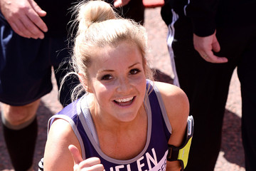 Helen Skelton Celebrities: London Marathon 2014