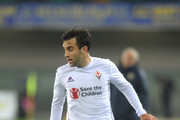 Giuseppe Rossi of ACF Fiorentina in action during the Serie A match between Hellas Verona FC and ACF Fiorentina at Stadio Marc'Antonio Bentegodi on October 28, 2015 in Verona, Italy.