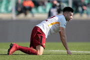 Stephan El Shaarawy of AS Roma reacts during the serie A match between Hellas Verona FC and AS Roma at Stadio Marc'Antonio Bentegodi on February 4, 2018 in Verona, Italy.