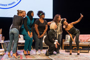 Glennon Doyle, Abby Wambach, Ibtihaj Muhammad, Nicole Byer, MILCK, Jennifer Rudolph Walsh and Sonequa Martin-Green pose for a selfie after the Hello Sunshine x Together Live show at Bluma Appel Theatre on November 6, 2018 in Toronto, Canada.