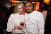 Deirdre Laughlin, Hennessy Marketing Director and Nas attend the Hennessy All-Star Weekend Gentlemen's Lounge hosted by Nas & A$AP Ferg at The Old Post Office on February 14, 2020 in Chicago, Illinois.