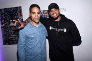 Street-artist-turned-art-world phenomenon, JonOne and actor Mack Wilds attend the Hennessy V.S Limited Edition by JonOne Launch Party at Terminal 5 on July 11, 2017 in New York City. The Limited Edition release by urban artist JonOne, which features a colorful, vibrant design, is the seventh in an ongoing series of collaborations between Hennessy V.S and several internationally renowned artists.