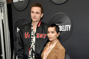 "Karl Glusman and Zoe Kravitz attend the ""High Fidelity"" New York Premiere at The Metrograph on February 13, 2020 in New York City."