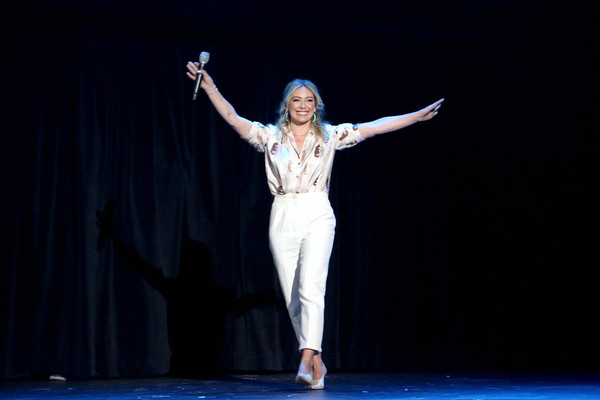 Disney+ Showcase Presentation At D23 Expo Friday, August 23 [lizzie mcguire,entertainment,performance,performing arts,dance,performance art,event,dancer,stage,choreography,talent show,hilary duff,disney showcase presentation,part,anaheim,calif,disney\u00e2,d23 expo]