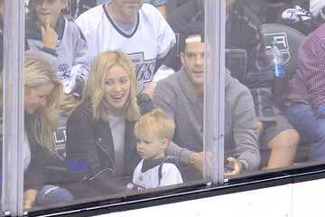 Hilary Duff Mike Comrie 2014 NHL Stanley Cup Final - Game Two