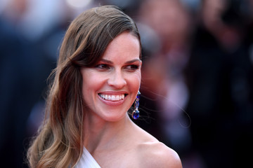 "Hilary Swank ""The Expendables 3"" Premiere - The 67th Annual Cannes Film Festival"