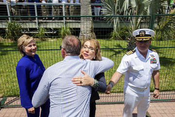 Hillary Clinton Commissioning Ceremony Held For The USS Gabrielle Giffords
