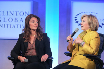 Hillary Clinton Melinda Gates Clinton Global Initiative's 10th Annual Meeting: Day 4