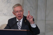 U.S. Senate Minority Leader Sen. Harry Reid (D-NV) speaks during his leadership portrait unveiling ceremony December 8, 2016 on Capitol Hill in Washington, DC. The leadership portrait unveiling ceremony was held to honor the outgoing Democratic leader.
