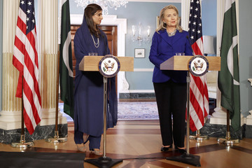 Hina Rabbani Khar Clinton Meets With Pakistani Foreign Minister At State Department