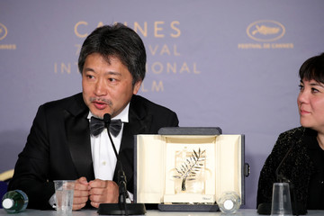 Hirokazu Koreeda Palme D'Or Winner Press Conference - The 71st Annual Cannes Film Festival