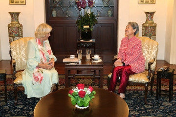 Ho Ching The Prince Of Wales & Duchess Of Cornwall Visit Singapore, Malaysia, Brunei And India - Day 2
