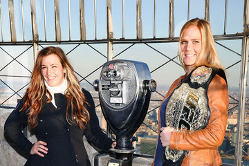Holly Holm UFC Women's Bantamweight Champion Holly Holm & Challenger Miesha Tate Visit The Empire State Building
