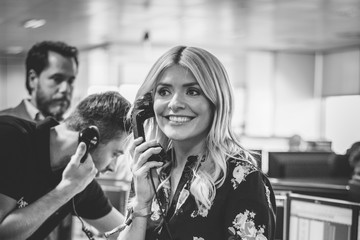 Holly Willoughby The 13th Annual BGC Charity Day at BGC Partners in London's Canary Wharf - Behind the Scenes