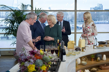 Holly Willoughby The Prince of Wales and the Duchess of Cornwall Visit the Royal Television Society