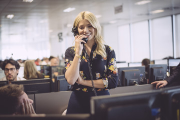 Holly Willoughby The 13th Annual BGC Charity Day At BGC Partners In London's Canary Wharf - Behind The Scenes Colour