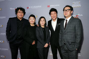 (L-R) Bong Joon Ho, Lee Jung Eun, Kwak Sin Ae, Song Kang Ho and guest attend the Hollywood Critics Awards at Taglyan Complex on January 09, 2020 in Los Angeles, California.