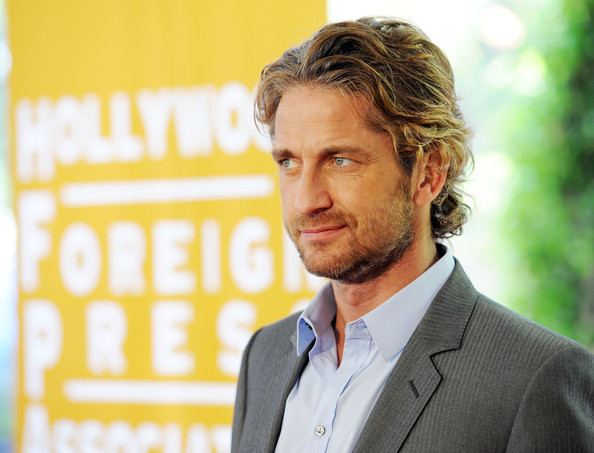 Actor Gerard Butler arrives at The Hollywood Foreign Press Association's 2011 Installation Luncheon at Beverly Hills Hotel on August 4, 2011 in Beverly Hills, California.