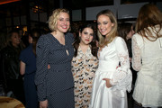 (L-R) Greta Gerwig, Beanie Feldstein and Olivia Wilde attend the Hollywood Foreign Press Association and The Hollywood Reporter Celebration of the 2020 Golden Globe Awards Season and Unveiling of the Golden Globe Ambassadors at Catch on November 14, 2019 in West Hollywood, California.