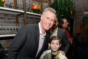 (L-R) Will Ferrell and Jacob Tremblay attend the Hollywood Foreign Press Association and The Hollywood Reporter Celebration of the 2020 Golden Globe Awards Season and Unveiling of the Golden Globe Ambassadors at Catch on November 14, 2019 in West Hollywood, California.