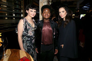 (L-R) Ginnifer Goodwin, Keith L. Williams and Abigail Spencer attend the Hollywood Foreign Press Association and The Hollywood Reporter Celebration of the 2020 Golden Globe Awards Season and Unveiling of the Golden Globe Ambassadors at Catch on November 14, 2019 in West Hollywood, California.