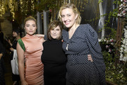 (L-R) Florence Pugh, Amy Pascal and Greta Gerwig attend the Hollywood Foreign Press Association and The Hollywood Reporter Celebration of the 2020 Golden Globe Awards Season and Unveiling of the Golden Globe Ambassadors at Catch on November 14, 2019 in West Hollywood, California.