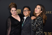 Lauren Ash, Nico Santos, and Nichole Bloom attend the Hollywood Foreign Press Association and The Hollywood Reporter Celebration of the 2020 Golden Globe Awards Season and Unveiling of the Golden Globe Ambassadors at Catch on November 14, 2019 in West Hollywood, California.
