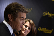 Dr. Mehmet Oz and Lisa Oz attend the Hollywood Reporter's 2016 35 Most Powerful People in Media at Four Seasons Restaurant on April 6, 2016 in New York City.