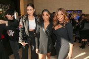 (L-R) Shay Mitchell,  Dia Nash, and Niecy Nash attend The Hollywood Reporter's 2017 Women In Entertainment Breakfast at Milk Studios on December 6, 2017 in Los Angeles, California.  (Photo by Rich Fury/Getty Images for THR) *** Local Caption *** Shay Mitchell; Niecy Nash; Dia Nash