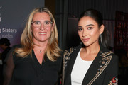 Chief Executive Officer of A&E Networks Nancy Dubuc and Shay Mitchell attend The Hollywood Reporter's 2017 Women In Entertainment Breakfast at Milk Studios on December 6, 2017 in Los Angeles, California.  (Photo by Rich Fury/Getty Images for THR) *** Local Caption *** Nancy Dubuc; Shay Mitchell