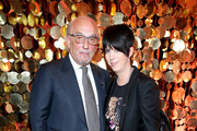 Jewelry designer Roberto Coin (L) and Songwriter Diane Warren attend The Hollywood Reporter's 4th Annual Nominees Night at Spago on February 8, 2016 in Beverly Hills, California.