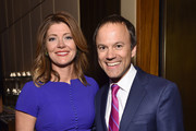 Journalist Norah O'Donnell (L) and President of CBS News David Rhodes attend The Hollywood Reporter's 5th Annual 35 Most Powerful People in New York Media on April 6, 2016 in New York City.