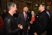 (From 2nd L) Keegan-Michael Key, Elisa Pugliese, Trevor Noah, and Michael Strahan attend The Hollywood Reporter's 9th Annual Most Powerful People In Media at The Pool on April 11, 2019 in New York City.