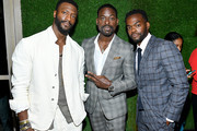 (L-R) Aldis Hodge, Sterling K. Brown and William Jackson Harper attend The Hollywood Reporter & SAG-AFTRA 3rd annual Emmy Nominees Night presented by Heineken and Anastasia Beverly Hills at Avra Beverly Hills Estiatorio on September 20, 2019 in Beverly Hills, California.