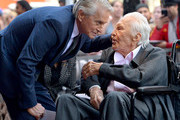 Michael Douglas and Kirk Douglas before the Hollywood Walk of Fame Ceremony Honoring Michael Douglas on Hollywood Boulevard on November 06, 2018 in Hollywood, California.