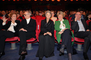 (L-R) Liliana Cavani, Festival director Dieter Kosslick, Charlotte Rampling,  Federal Commissioner for Culture and Media, Monika Grütters and Rainer Rother attend the Homage Charlotte Rampling Honorary Golden Bear award ceremony during the 69th Berlinale International Film Festival Berlin at Berlinale Palace on February 14, 2019 in Berlin, Germany. Rampling is this years recipient of the Honorary Golden Bear Award of the Berlinale.