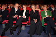 (L-R) Festival director Dieter Kosslick, Liliana Cavani, Charlotte Rampling and Monika Gruetters attend the Homage Charlotte Rampling Honorary Golden Bear award ceremony during the 69th Berlinale International Film Festival Berlin at Berlinale Palace on February 14, 2019 in Berlin, Germany. Rampling is this years recipient of the Honorary Golden Bear Award of the Berlinale.