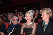 Helen Mirren (C) and Minister of State for Culture and the Media Monika Gruetters (R) at the Homage Helen Mirren Honorary Golden Bear award ceremony during the 70th Berlinale International Film Festival Berlin at Berlinale Palace on February 27, 2020 in Berlin, Germany. Helen Mirren is this years recipient of the Honorary Golden Bear Award of the Berlinale.