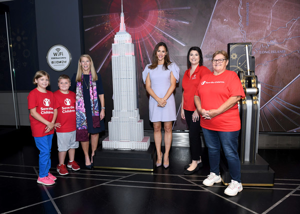 Save the Children Lighting Of The Empire State Building [save the children lighting of the empire state building,social group,youth,talent show,team,event,performance,leisure,photography,recreation,competition,beneficiary family,hope,ceo,carolyn miles,kalob,stephanie lakes,beneficiary,save the children,kentucky programs]