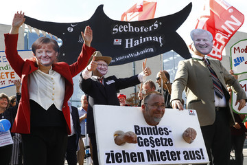 Horst Seehofer Protesters Demand Affordable Housing