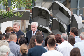 Horst Seehofer Munich Commemorates First Anniversary of Shooting Spree That Killed Nine