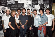 Ken Paves, Kyle Krieger, Alex Costa, Eugene Lee Yang, Ethan Paves and team attend the House 99 by David Beckham party hosted by Ken Paves at his salon in West Hollywood on August 20, 2018 in West Hollywood, California.